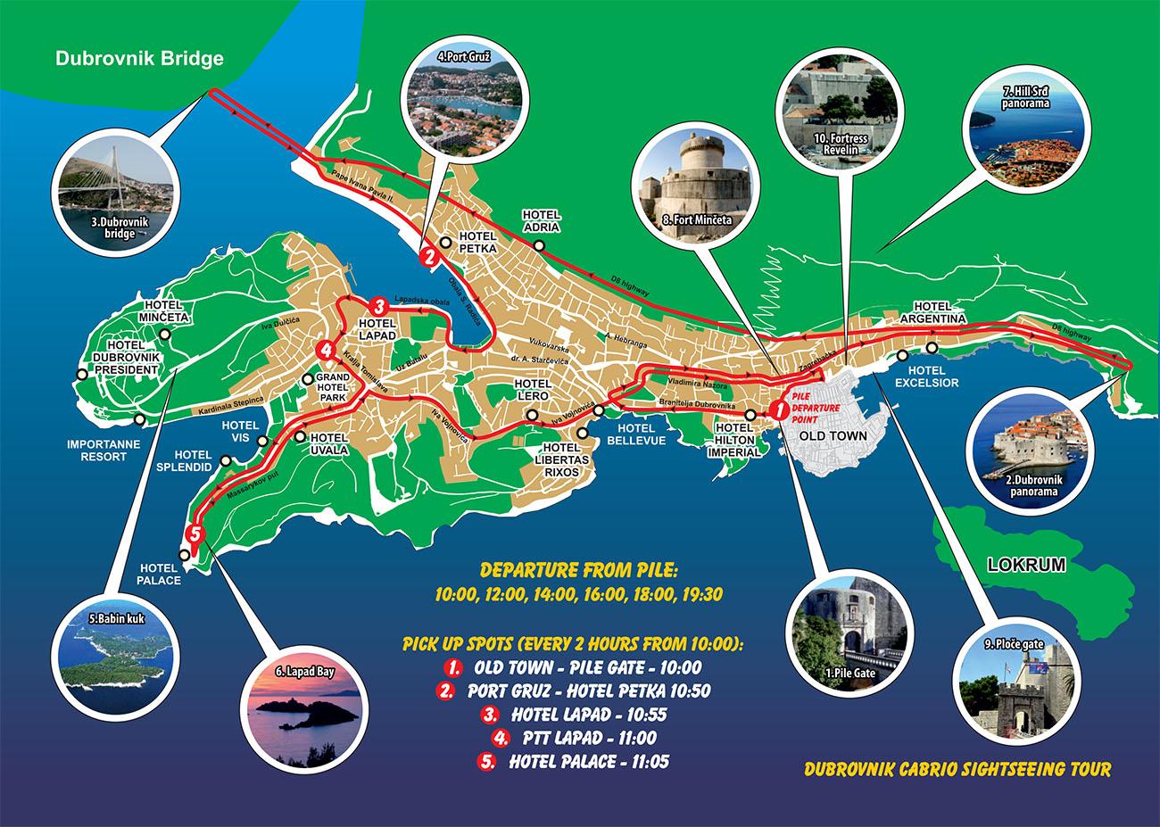 Sightseeing Dubrovnik - Cabrio bus tour Dubrovnik on